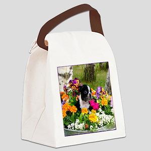 flowers boston b Canvas Lunch Bag
