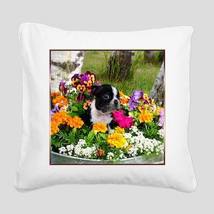 flowers boston b Square Canvas Pillow