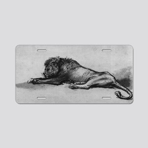 lion rembrant makeup bag1 Aluminum License Plate