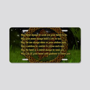 IRISH-BLESSING-LAPTOP- Aluminum License Plate