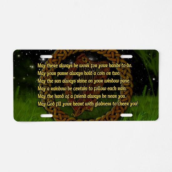 IRISH-BLESSING-LAPTOP- Aluminum License Plate