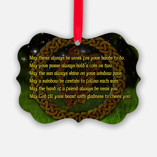 IRISH-BLESSING-LAPTOP- Ornament