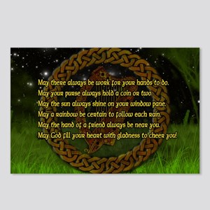 IRISH-BLESSING-LAPTOP- Postcards (Package of 8)