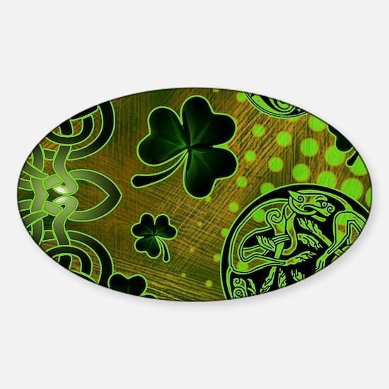 IRISH-CELTIC-LAPTOP- Sticker (Oval)
