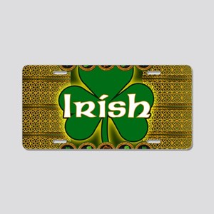 IRISH-CELTIC-SHAMROCK-LAPTO Aluminum License Plate