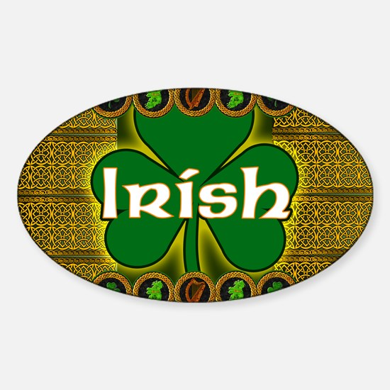 IRISH-CELTIC-SHAMROCK-LAPTOP Sticker (Oval)