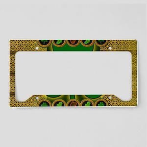 IRISH-CELTIC-SHAMROCK-LAPTOP License Plate Holder
