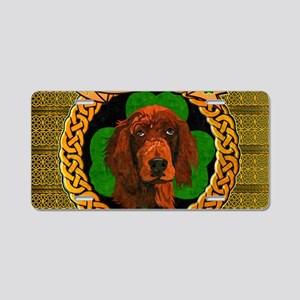 IRISH-SETTER-CELTIC-LAPTOP Aluminum License Plate