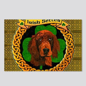IRISH-SETTER-CELTIC-LAPTO Postcards (Package of 8)