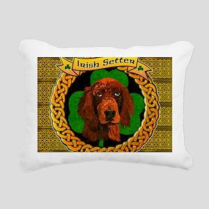 IRISH-SETTER-CELTIC-LAPT Rectangular Canvas Pillow