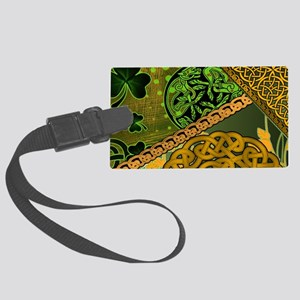 CELTIC-KNOTWORK-IRISH-LAPTOP-SKI Large Luggage Tag