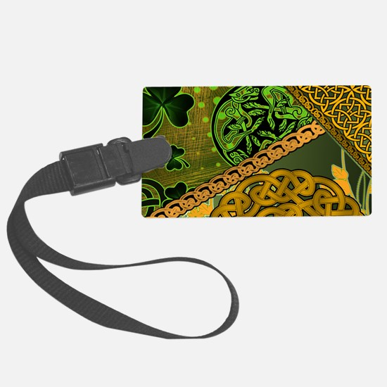 CELTIC-KNOTWORK-IRISH-LAPTOP-SKI Luggage Tag