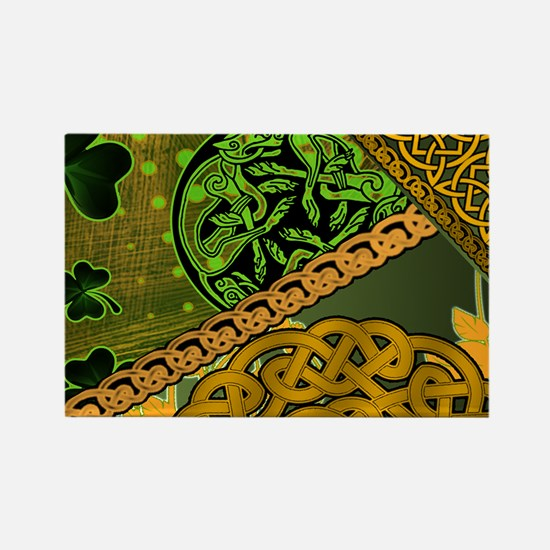 CELTIC-KNOTWORK-IRISH-LAPTOP-SKIN Rectangle Magnet