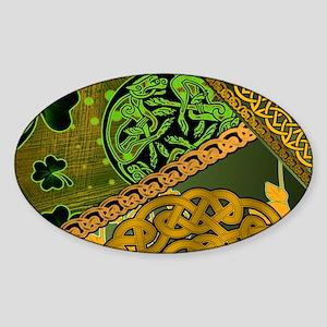 CELTIC-KNOTWORK-IRISH-LAPTOP-SKIN Sticker (Oval)