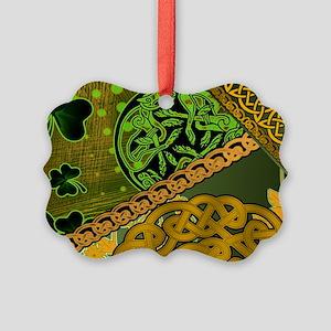 CELTIC-KNOTWORK-IRISH-LAPTOP-SKIN Picture Ornament