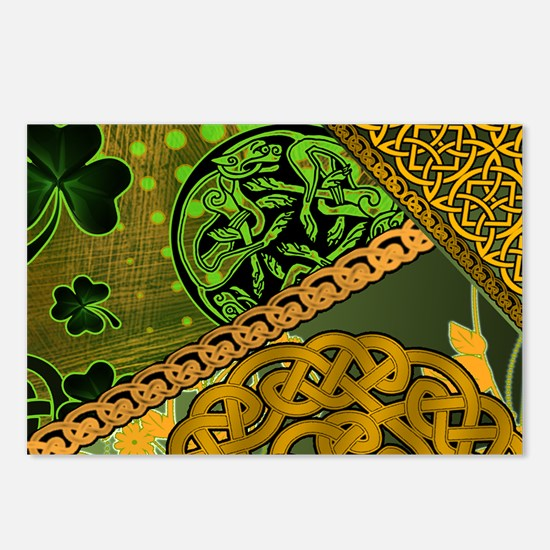 CELTIC-KNOTWORK-IRISH-LAP Postcards (Package of 8)