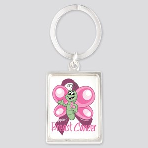 BC-Cartoon-Butterfly-blk Portrait Keychain