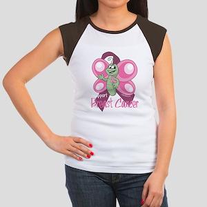 BC-Cartoon-Butterfly-bl Women's Cap Sleeve T-Shirt