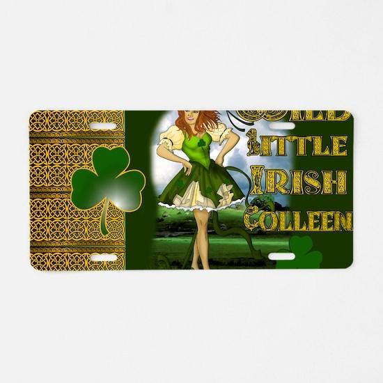 WILD-LITTLE-IRISH-COLLEEN-L Aluminum License Plate