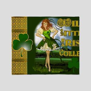 WILD-LITTLE-IRISH-COLLEEN-LAPTOP Throw Blanket