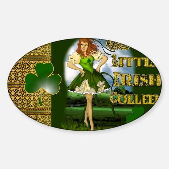 WILD-LITTLE-IRISH-COLLEEN-LAPTOP Sticker (Oval)