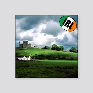 "IRISH-LANDSCAPE-PILLOW Square Sticker 3"" x 3"""