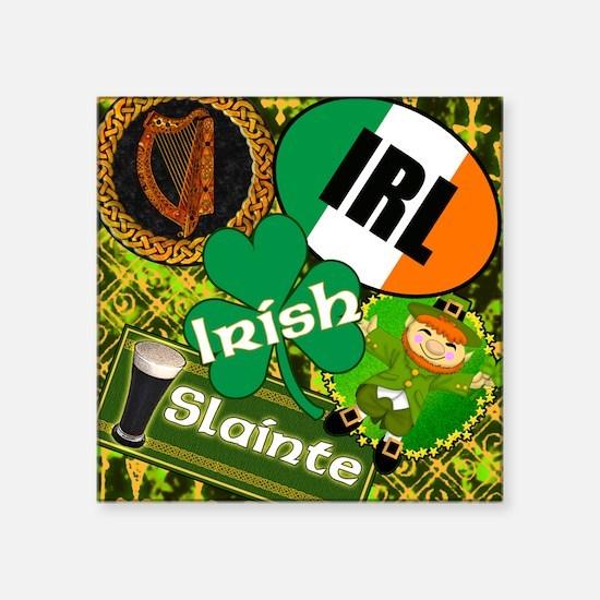 """EMERAL-MEMORIES-IRISH-PILLO Square Sticker 3"""" x 3"""""""