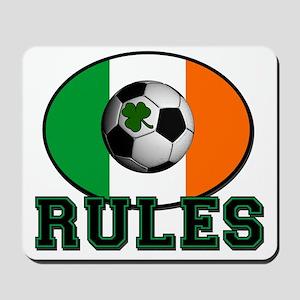IRELAND-RULES-CELTIC-FOOTBALL Mousepad