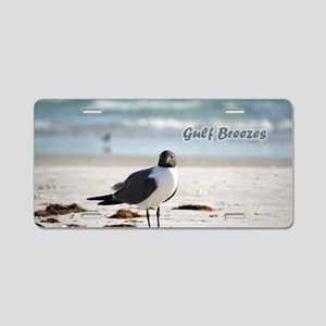 Laughing   gull Aluminum License Plate