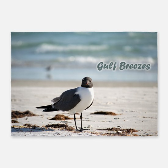 Laughing   gull 5'x7'Area Rug