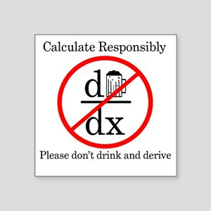 """Dont Drink and Derive - Bee Square Sticker 3"""" x 3"""""""