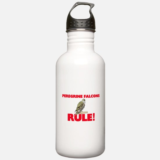 Peregrine Falcons Rule Water Bottle