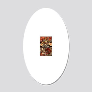 Faust 20x12 Oval Wall Decal