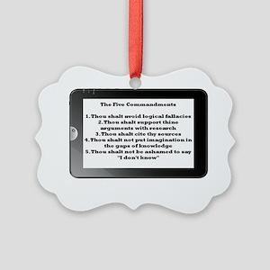 5commandments tablet Picture Ornament