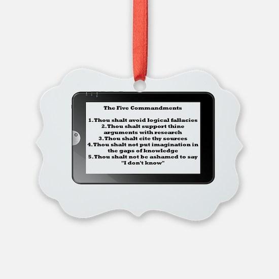 5commandments tablet Ornament