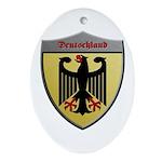 Germany Metallic Shield Ornament (Oval)