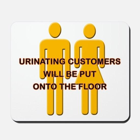 Urinating_Customers Mousepad