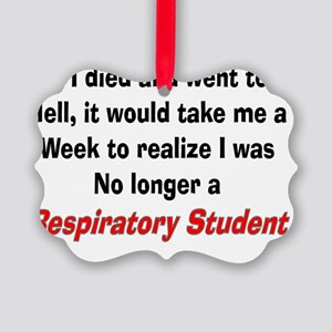 If I died resp student Picture Ornament