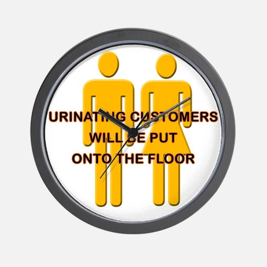 Urinating_Customers Wall Clock
