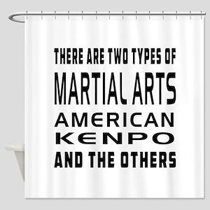 American Kenpo Designs Shower Curtain