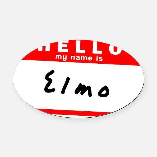 Elmo Oval Car Magnet
