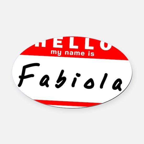 Fabiola Oval Car Magnet