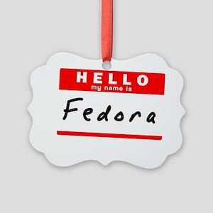 Fedora Picture Ornament