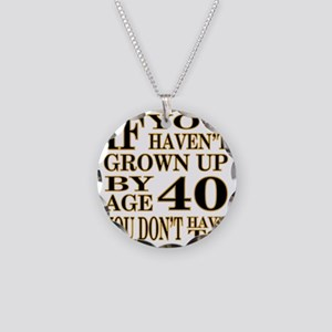 1 Age 40 Necklace Circle Charm