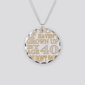 1 Age 40 Silver Necklace Circle Charm