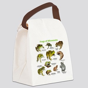 Frogs Species of Minnesota Canvas Lunch Bag