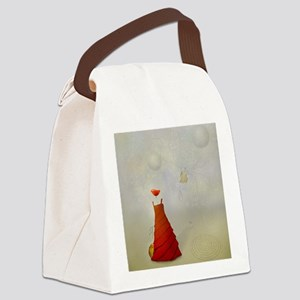 demoiselle-paysage-poppy-surreali Canvas Lunch Bag