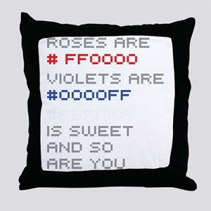 hex-poem-01a Throw Pillow