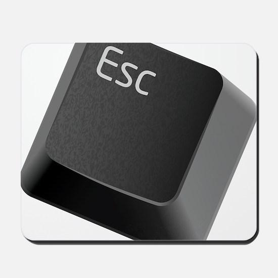 push-to-esc Mousepad