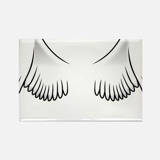 Angel Wings Rectangle Magnet